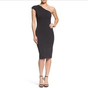 DRESS the POPULATION Black QUINN One Shoulder B70